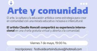 """Está abierta la inscripción a la charla virtual """"Arte y Comunidad"""""""