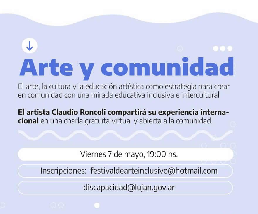 charla virtual Arte y Comunidad