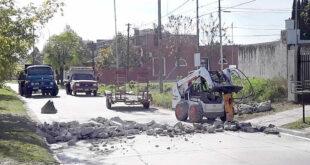 Corte por obras en calle 9 de Julio, entre Urquiza y Alberdi