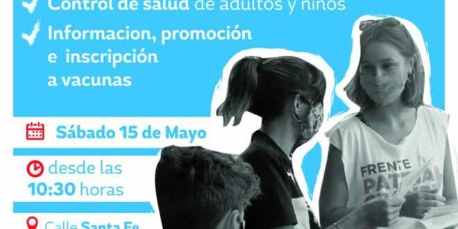Jornada comunitaria de salud en el Barrio Villa del Parque
