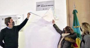 """Se inauguró el Salón """"Héroes de Malvinas"""" en el Palacio Municipal"""