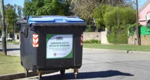 Los nuevos contenedores llegaron al barrio Sarmiento