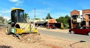 Mejoramiento de calles con escalla cerámica en Pueblo Nuevo