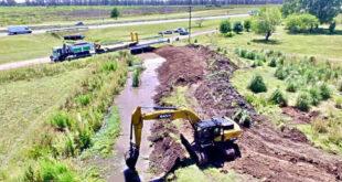 Avance de la obra de saneamiento del arroyo Lanusse