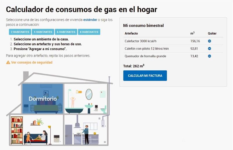 calculador-consumo gas