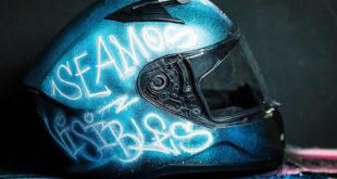 casco luminiscente