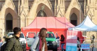 testeos Covid en Plaza Belgrano