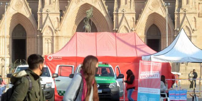 Nueva jornada de testeos Covid en la Plaza Belgrano