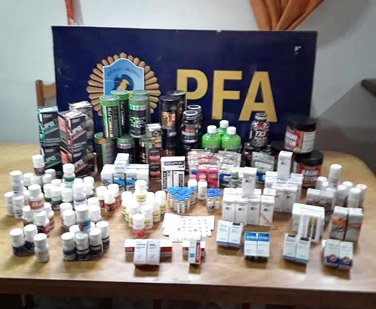 La PFA secuestró anabólicos