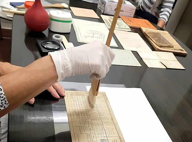 conservación de papel