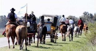 peregrinación a caballo