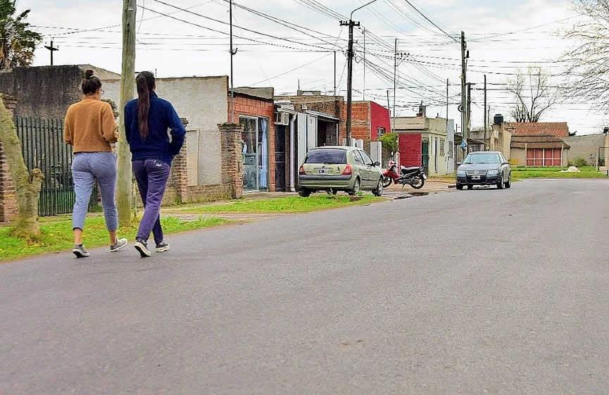 Nuevas calles pavimentadas habilitadas