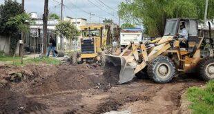 Pavimentación barrio Lanusse