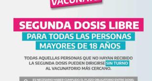 Vacuna libre segunda dosis